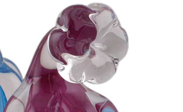 Skulpterat Massivt Glas